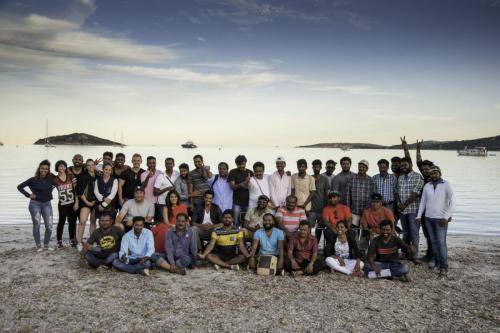 """Film indien """"Jaguar"""". Tournage en Corse. 2017."""