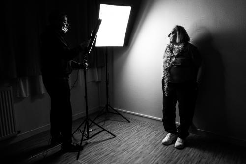 """Making off du projet photographique """"La beauté n'a pas d'âge"""" de Michel Taburiaux à Paris. 2020"""