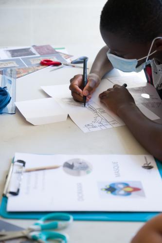 Ateliers au musée national de la Renaissance (Ecouen) avec l'association LAACI. 2020